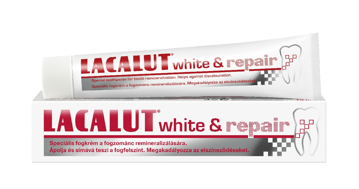 Lacalut white & repair fogkrém 75 ml