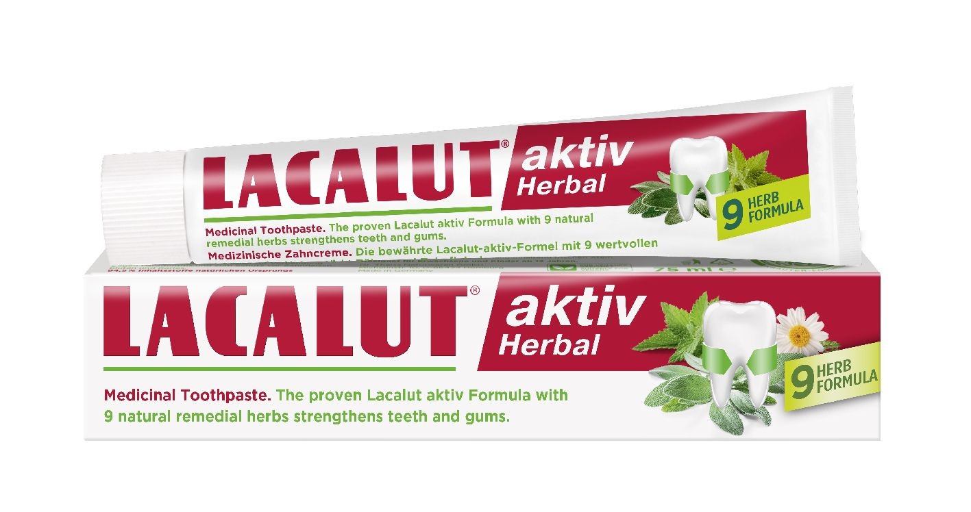 Lacalut aktiv Herbal fogkrém 75 ml