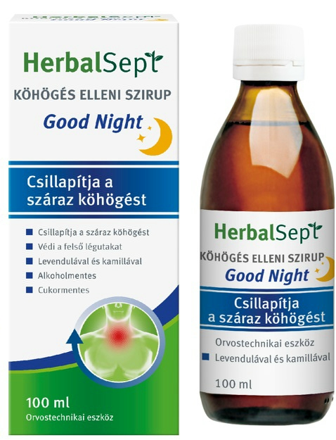 HerbalSept Köhögés elleni szirup Good Night 100 ml