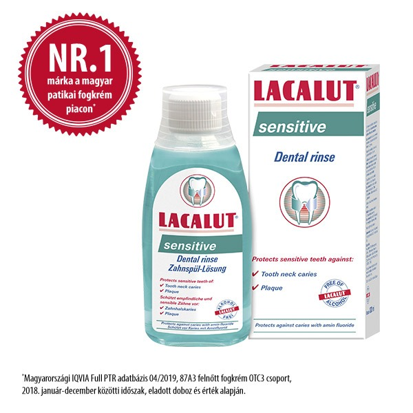 Lacalut sensitive fluoridos szájvíz 300ml